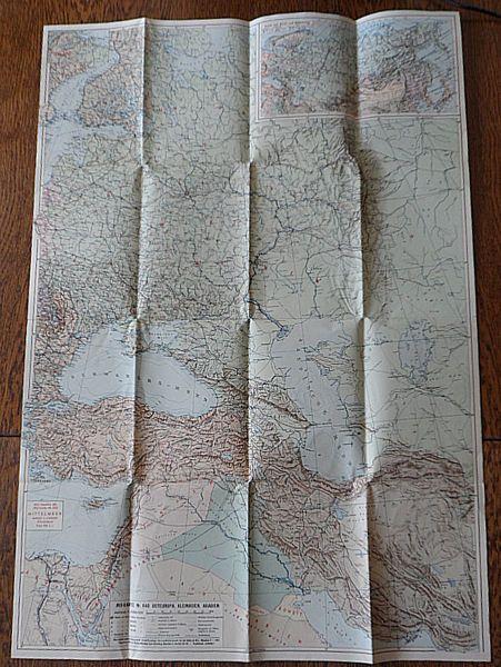 Jro-Verlag (Hrsg.) Karte Osteuropa, Kleinasien, Iran, Irak 9-farbig Maßstab 1: 5 000 000. Mit einem Sonderkärtchen: Asiatisches Rußland und angrenzende Länder