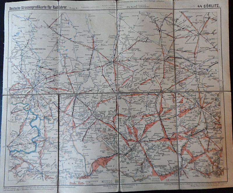 Deutsche Straßenprofilkarte für Radfahrer. Nr. 44, Görlitz