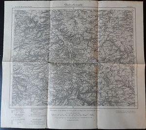 Kartogr. Abteilung der Kgl. Preuß. Landesaufnahme 1911 (einzelne Nachträge 1913) Karte des deutschen Reiches, Landkarte 440 Gera Umdruckausgabe
