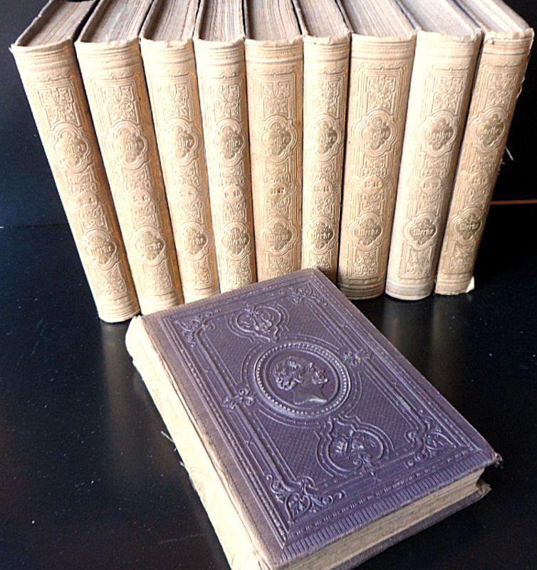Goethe, Johann Wolfgang Goethes Werke. 20 Bände in 10 Büchern. Erste Illustrirte Ausgabe mit erläuternden Einleitungen, zweite verbesserte Auflage