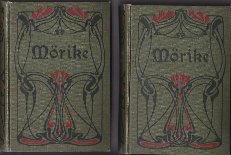 Mörike, Eduard Mörikes Werke in 6 Bänden in 2 Büchern