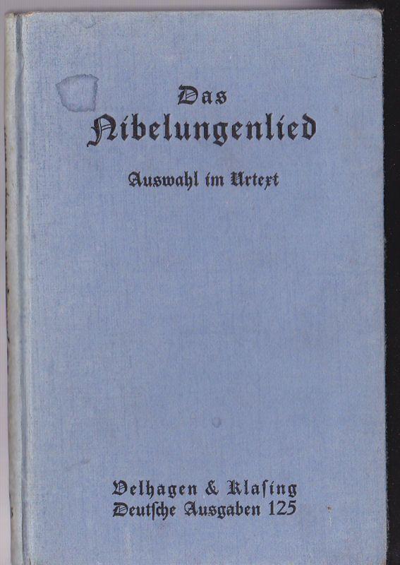 Guth, Gustav Das Nibelungenlied. Auswahl im Urtext. Mit Anmerkungen und Wörterverzeichnis.