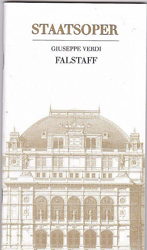 Wiener Staatsoper Giuseppe Verdi, Falstaff. Programmheft
