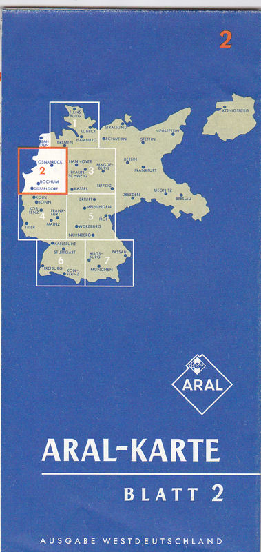 BV Aral Aktiengesellschaft (Hrsg.) Aral-Karte Blatt 2, Ausgabe Westdeutschland