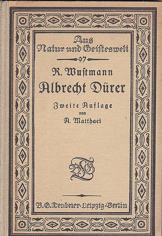 Wustmann, Rudolf Albrecht Dürer
