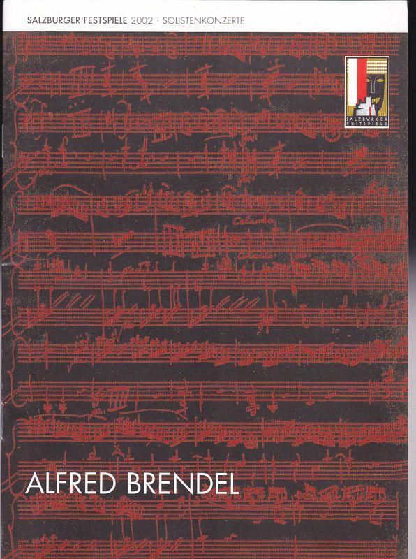Salzburger Festspiele (Hrsg) Salzburger Festspiele 2002, Programm zum Solistenkonzert: Alfred Bredel