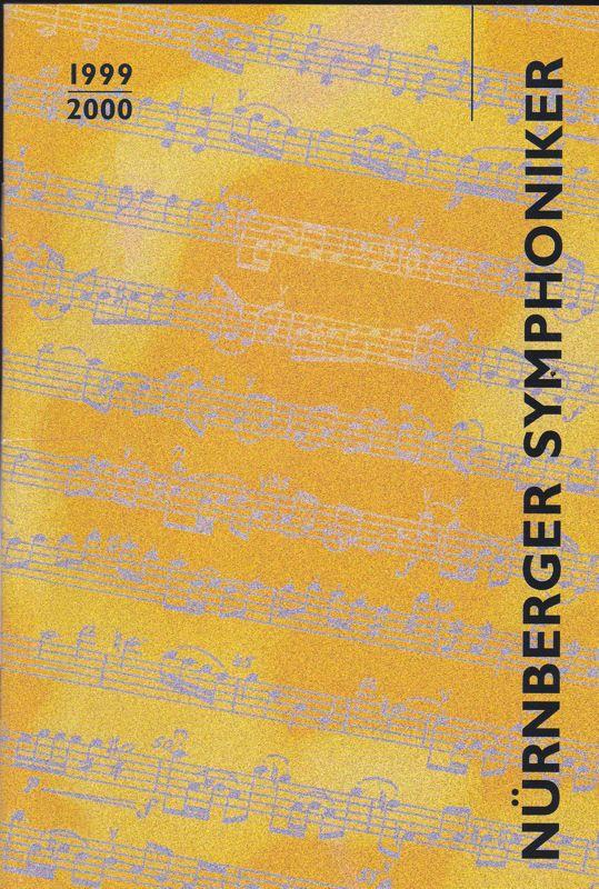 Nürnberger Symphoniker Nürnberger Symphoniker: Neujahrskonzert 2000 Programmheft