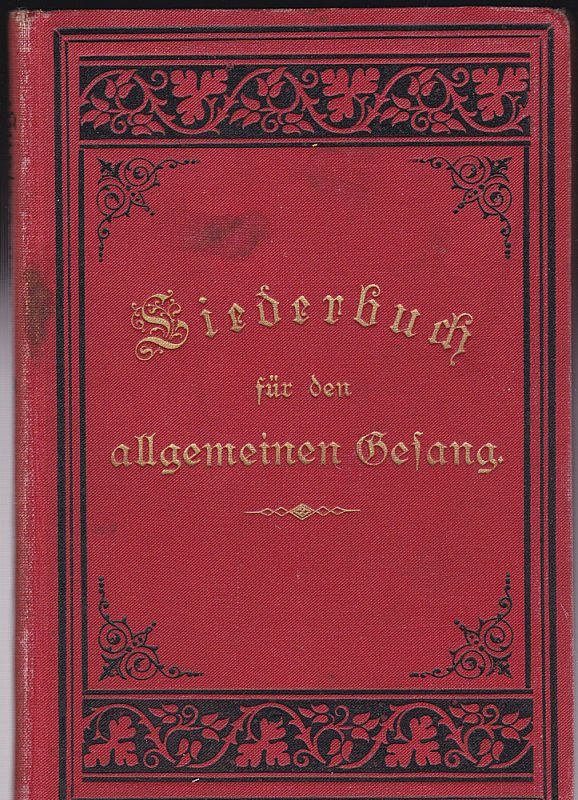 Liederbuch für den allgemeinen Gesang