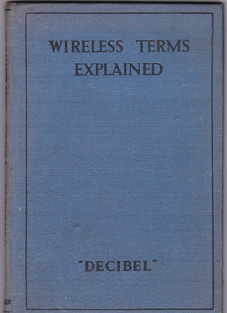 """Decibel"" Wireless Terms Explained"