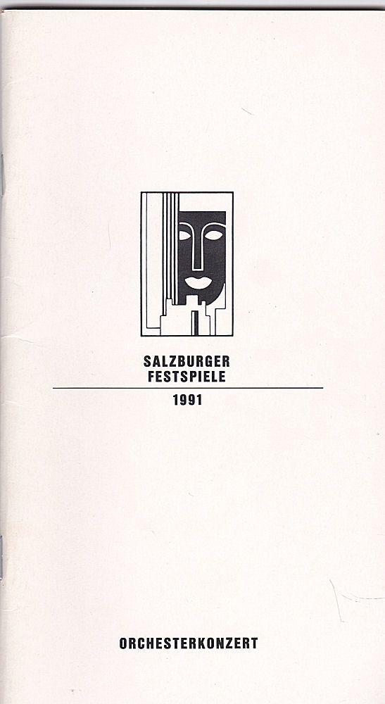 Willnauer, Franz (Ed.) Salzburger Festspiele 1991, Orchesterkonzert