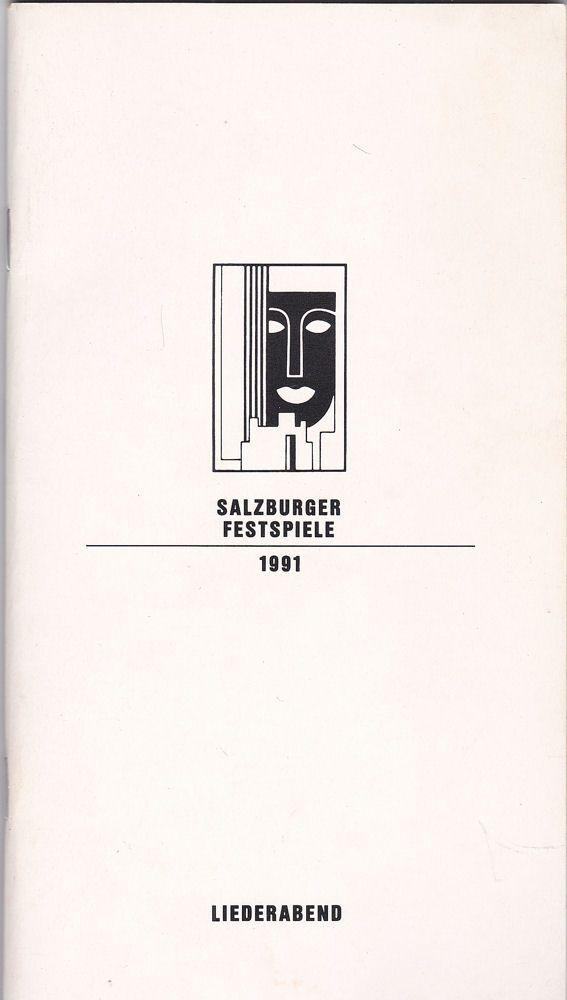 Willnauer, Franz (Ed.) Salzburger Festspiele 1991, Liederabend