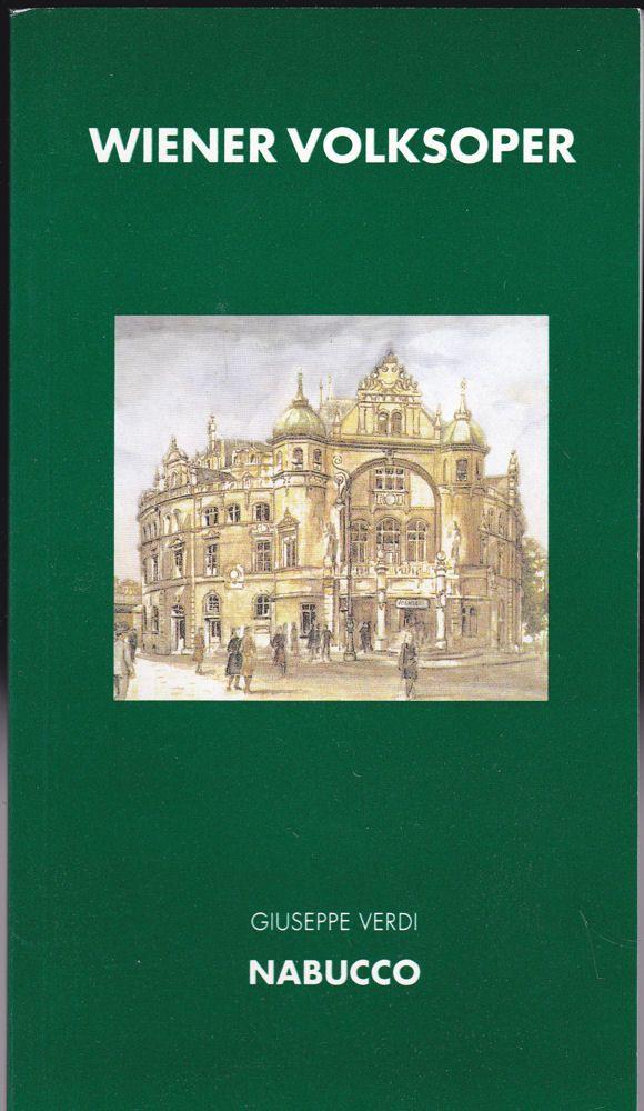 Wiener Volksoper Programmheft: Giuseppe Verdi - Nabucco