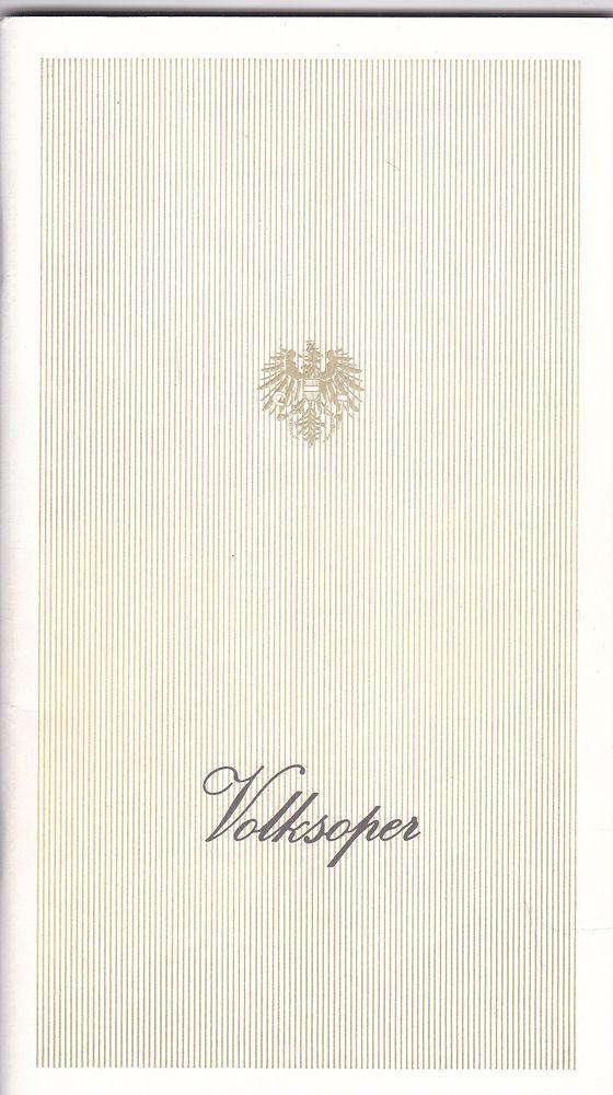 Wiener Volksoper Programmheft: Jaques Offenbach - Hoffmanns Erzählungen