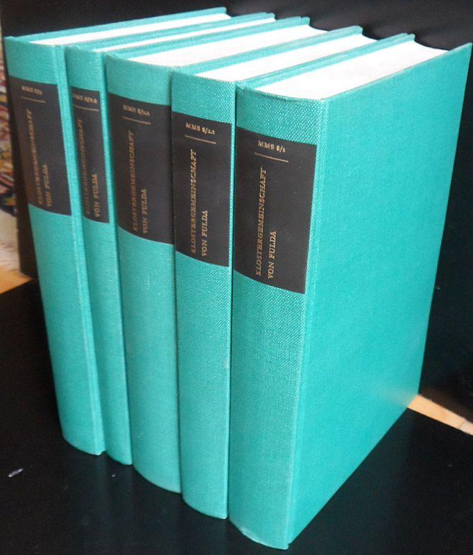 Schmid, Karl Die Klostergemeinschaft von Fulda im früheren Mittelalter: 3 Bände in 5 Büchern: Band 1, 2.1-3, 2.2., 2.3, 3