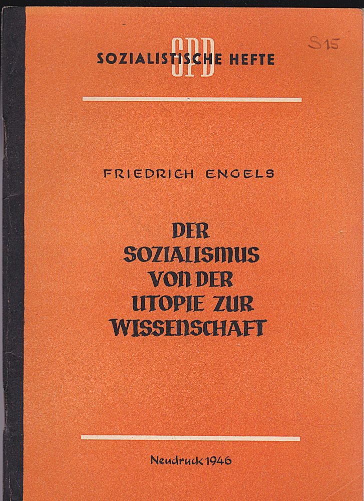 Engels, Friedrich Der Sozialismus von der Utopie zur Wissenschaft, Neudruck 1946