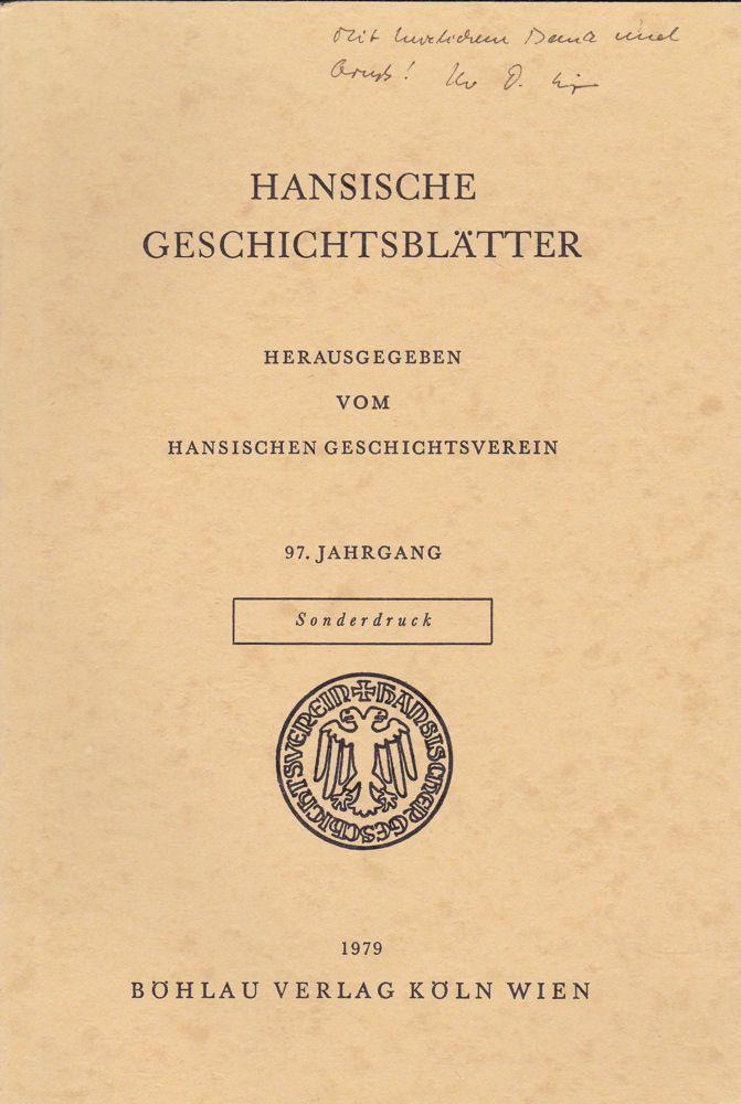 Irsigler, Franz Hansischer Kupferhandel im 15. und in der ersten Hälfte des 16. Jahrhunderts. Sonderdruck