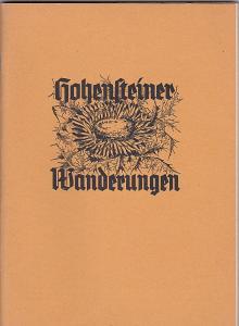 Hager, Franz Hohensteiner Wanderungen