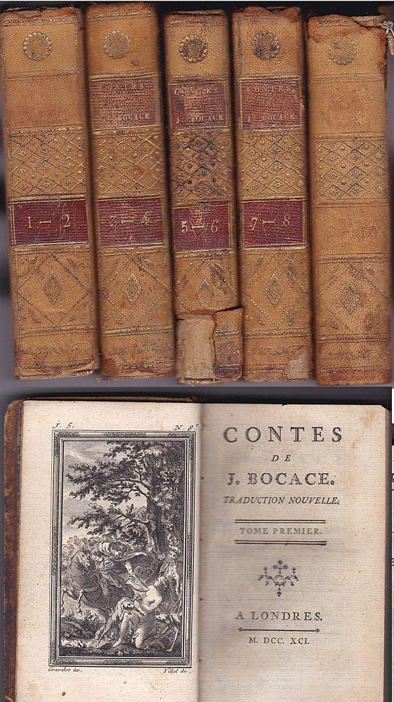 Bocace, J. Contes de J. Bocace Traduction Nouvelle 10 tomes en 5 livres