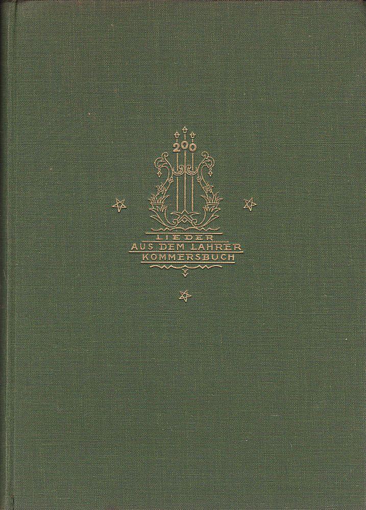 200 Lieder aus dem Allgemeinen Deutschen Kommersbuch mit Klavierbegleitung. Kommers-Abende, kleine Ausgabe