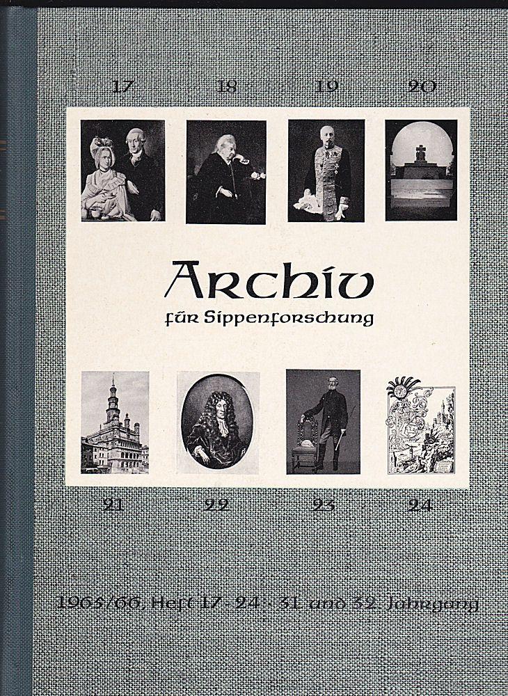 Kretschmer, Hans (Hauptschriftleitung) Archiv für Sippenforschung mit Praktischer Forschungshilfe 31. u. 32. Jahrgang 1965-1966