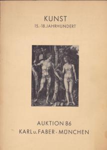 Karl u. Faber, München Katalog zur Auktion 86 Kunst Alter und Neuer Meister 6. November 1963