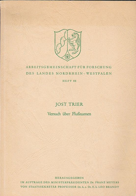 Trier, Jost Versuch über Flußnamen