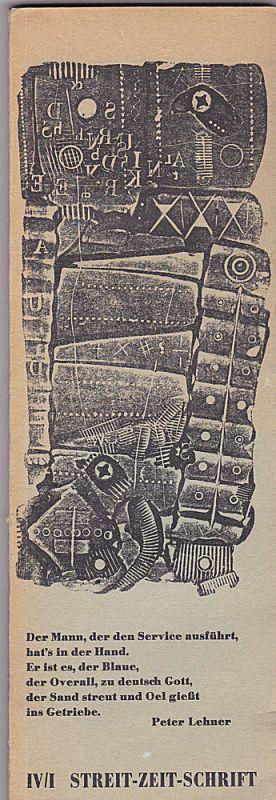 Stomps, V.O. (Hrsg) Streit-Zeit-Schrift IV/I - Vierter Band Heft 1 Februar 1962