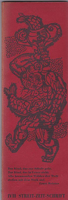 Stomps, V.O. (Hrsg) Streit-Zeit-Schrift IV/2 - Vierter Band Heft 2 März 1963