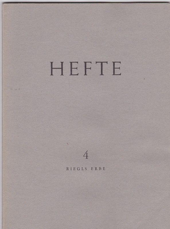 Sedlmayr, Hans (Hrsg) Riegls Erbe