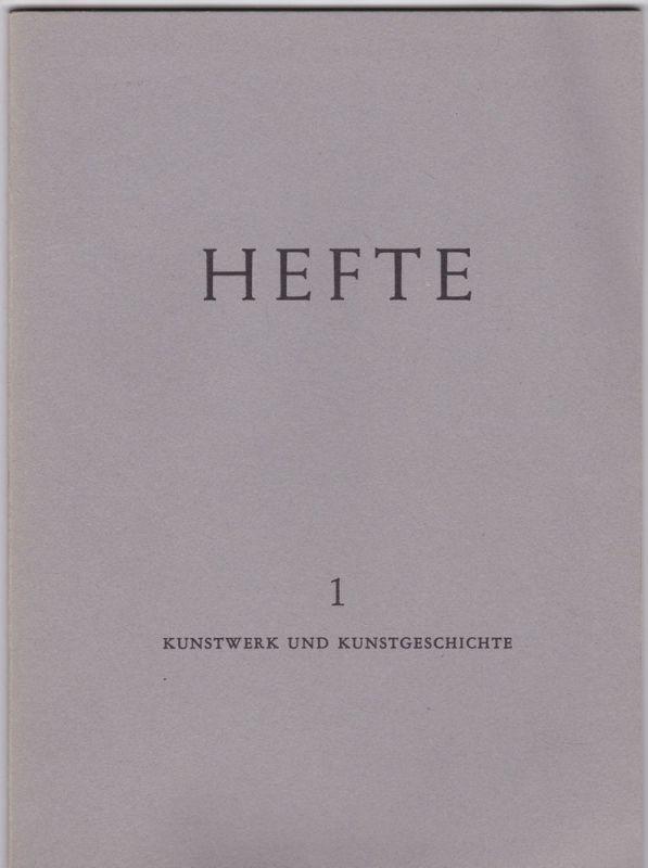 Sedlmayr, Hans (Hrsg) Kunstwerk und Kunstgeschichte