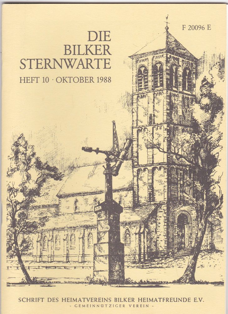 Bilker Heimatfreunde e.V. (Hrsg) Die Bilker Sternwarte Heft 10, Oktober 1988