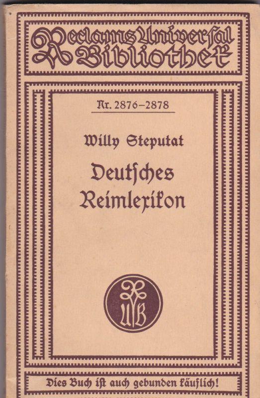 Steputat, Willy Deutsches Reimlexikon