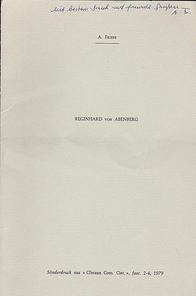 Friese, A. Reginhard von Abenberg
