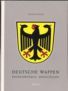 Stadler, Klemens Deutsche Wappen, Bundesrepublik, Band 4 : Die Gemeindewappen des Freistaates Bayern 1. Teil A-L