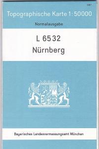 Bayerisches Landesvermessungsamt L6532 Nürnberg, Topographische Karte 1:50 000