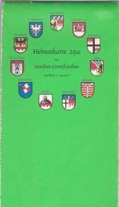 Deutsche Kreiskartenverlagsanstalt Rudolf Ernst (Hrsg) Heimatkarte (29a) von Nordost- Unterfranken Maßstab 1: 100.000