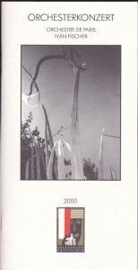 Salzburger Festspiele (Hrsg) Salzburger Festspiele 2000.Programmheft: Orchesterkonzert Orchstre de Paris Iván Fischer
