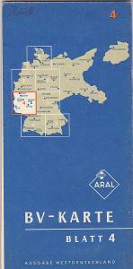 BV Aral Aktiengesellschaft (Hrsg.) Aral-Karte Blatt 4, Ausgabe Westdeutschland