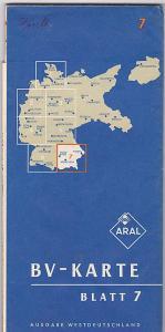 BV Aral Aktiengesellschaft (Hrsg.) Aral-Karte Blatt 7, Ausgabe Westdeutschland