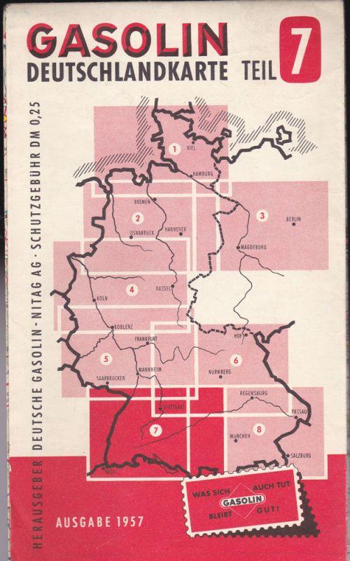 Deutsche Gasolin-Nitag AG (Hrsg) Gasolin Deutschlandkarte Teil 7