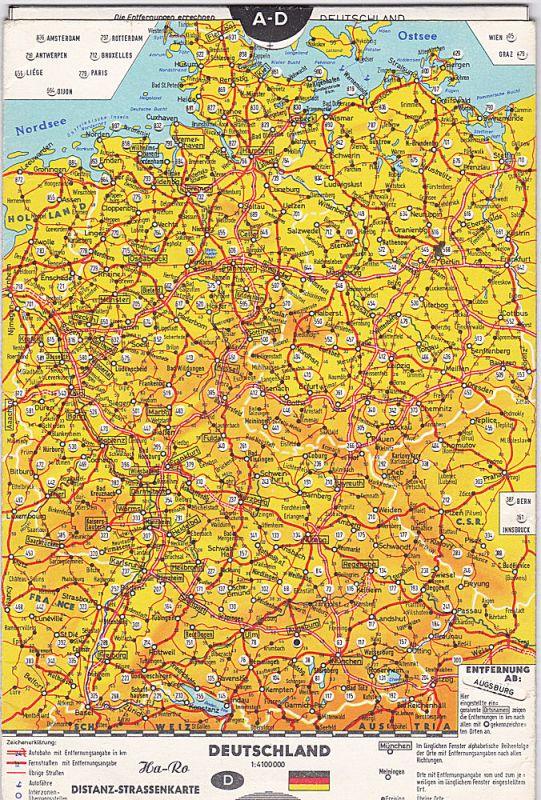 Ha-Ro (Hrsg) Distanz-Straßenkarte Deutschland