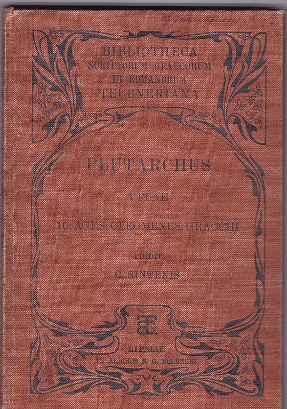 Sintenis, C. Plutarchus Vitae 10: Ages: Cleomenes: Gracchi - Plutarchi vitae parallelae Agidis et Cleomenis, Gracchorum