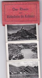 Cramers Kunstanstalt, Cekade (Hrsg) Mini-Leporello: Der Rhein von Rüdesheim bis Koblenz