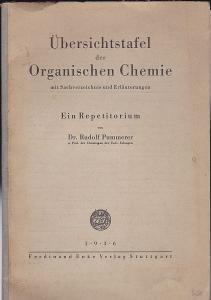 Pummerer, Rudolf Übersichtstafel der Organischen Chemie mit Sachverzeichnis und Erläuterungen. Ein Repetitorium