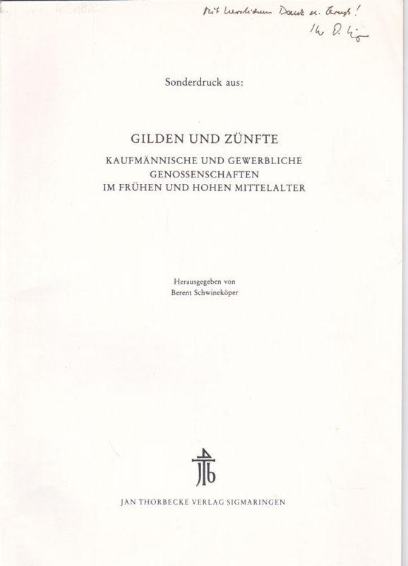 Irsigler, Franz Zur Problematik der Gilde- und Zunftterminologie (Sonderdruck)