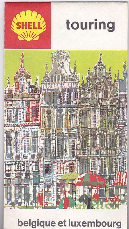 Shell Reisedienst Shell Touring Karte: Belgique et Luxembourg/Belgie en Luxemburg