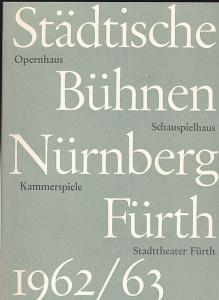Städtische Büchnen Nürnberg-Fürth (Hrsg.) Einladung zur Platzmiete für die Spielzeit 1962/1963