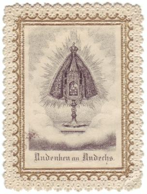 Andenken an (Kloster) Andechs. Die heiligen drei Hostien.