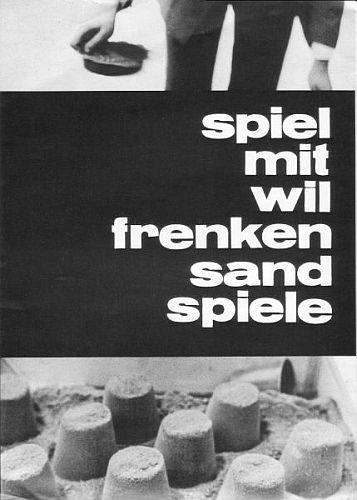 Wil Frenken (*1935). Spiel mit Wil Frenken Sandspiele. Poster zur Aktion Sandspiel im Museum Folkwang.