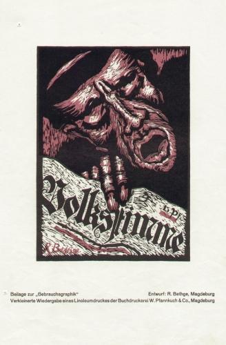 """Bethge, Rolf (Magdeburg): """"Volksstimme""""."""